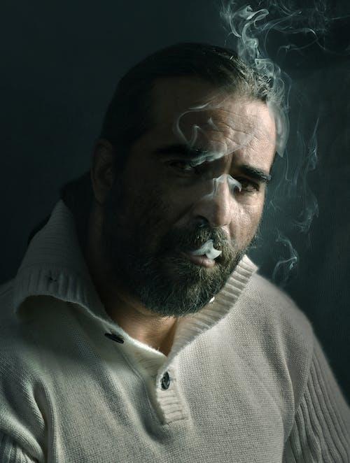 Man in Gray Polo Shirt