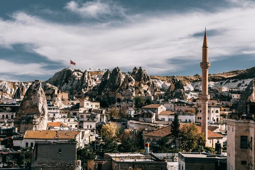 National park with shabby buildings in Turkey