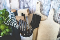 cooking, kitchen utensils