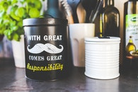 kitchen, mustache