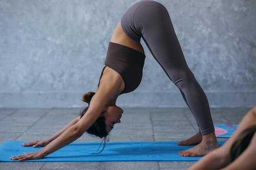 A Woman Doing a Yoga Pose