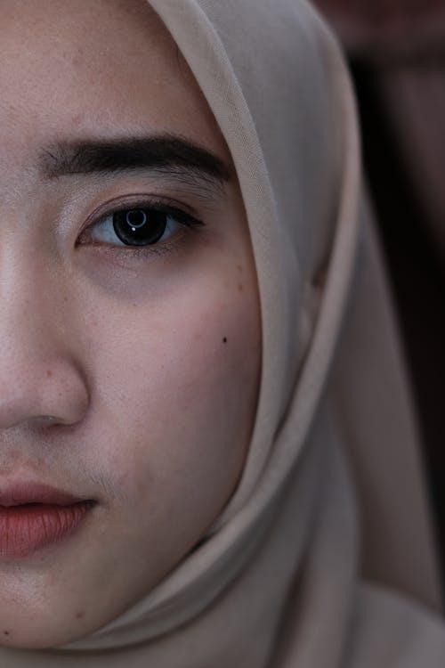 Crop Muslim woman in hijab