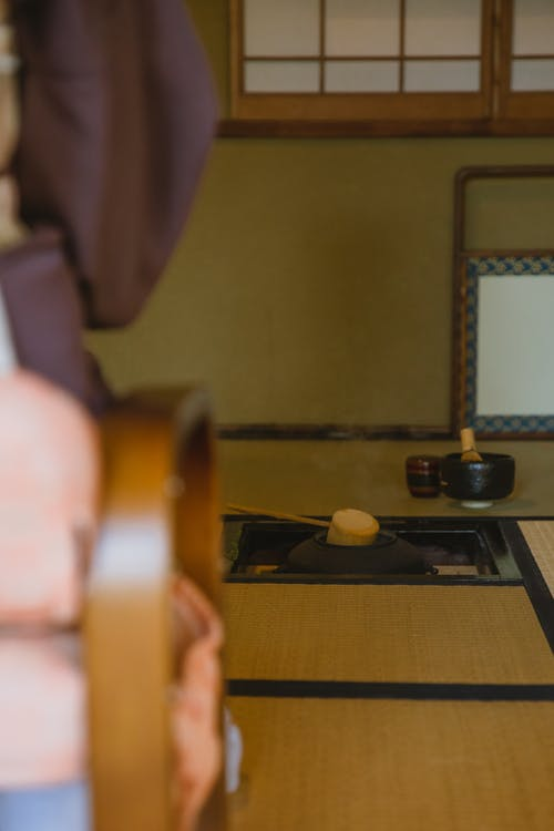 Room with utensil for Japanese tea ceremony