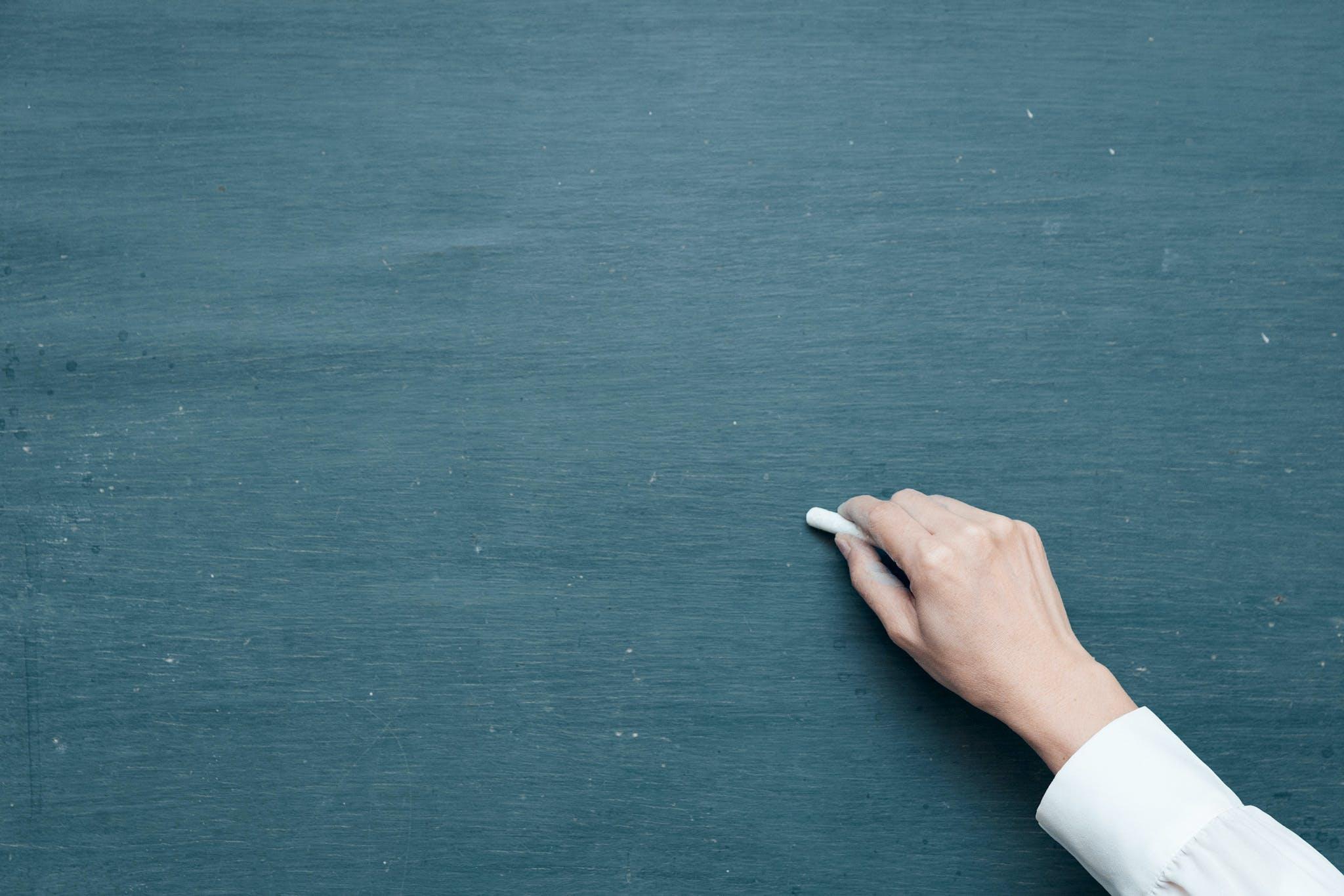 blackboard, board, chalk