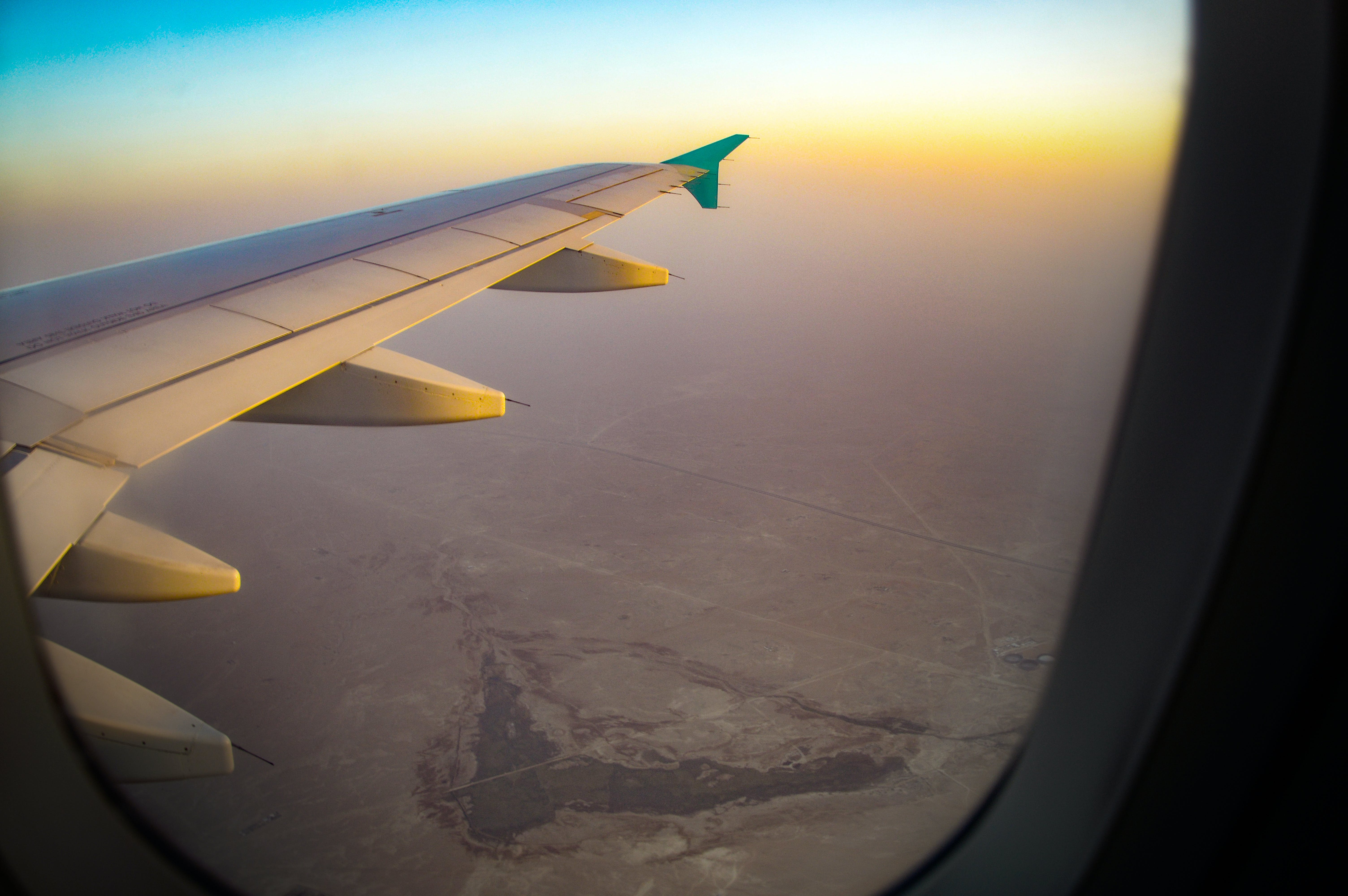 Free stock photo of above, air, aircraft wing, heaven