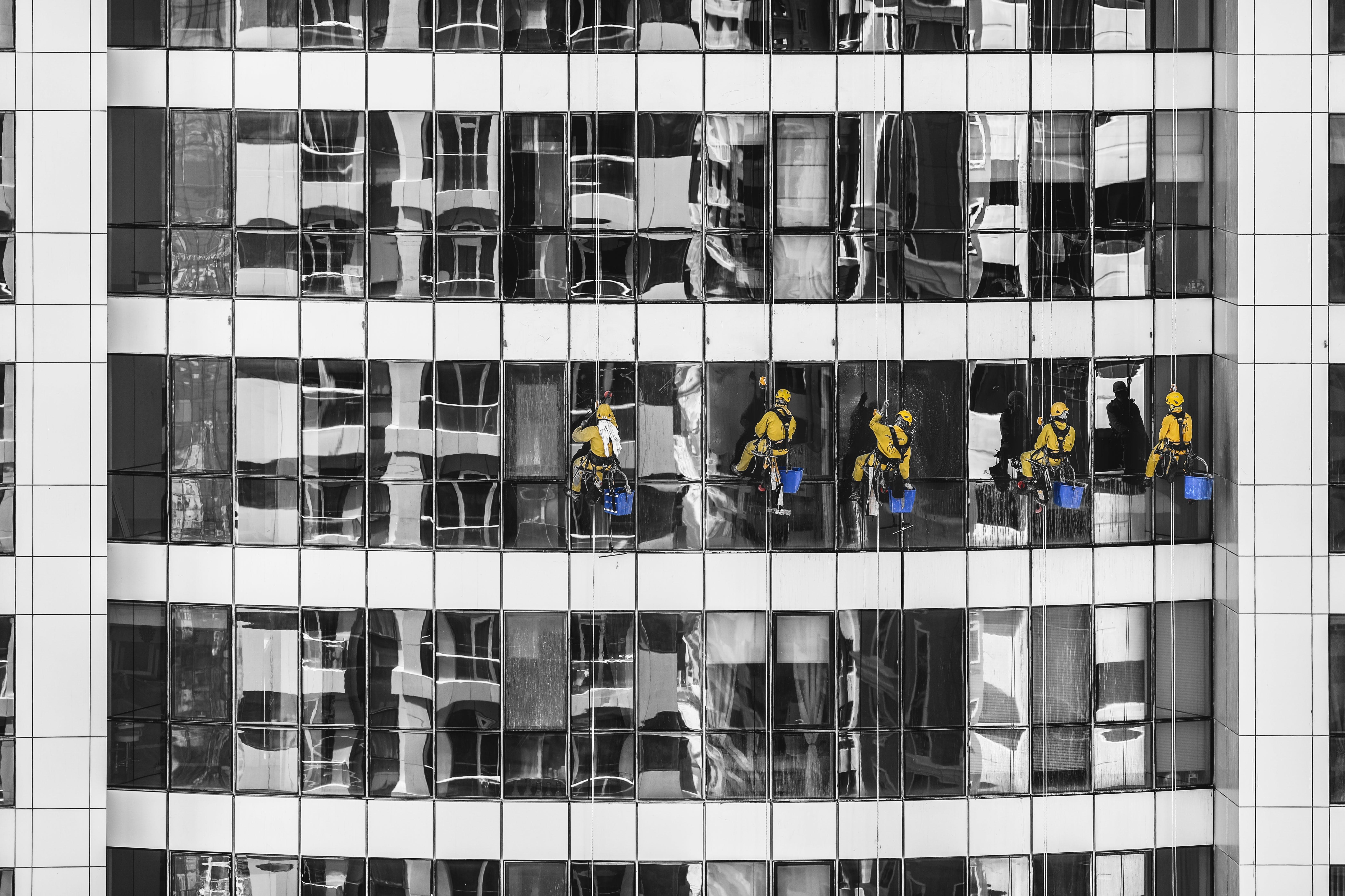 ウィンドウクリーナー, ガラス窓, クリーニング, シティの無料の写真素材