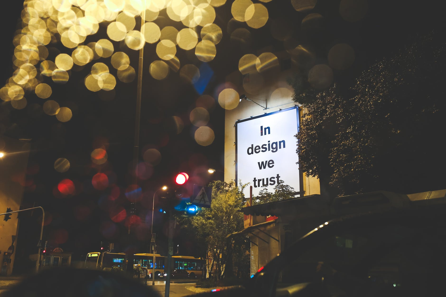 In Design We Trust Billboard image (public domain)