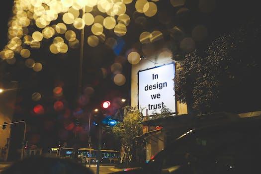 In Design We Trust on a Billboard