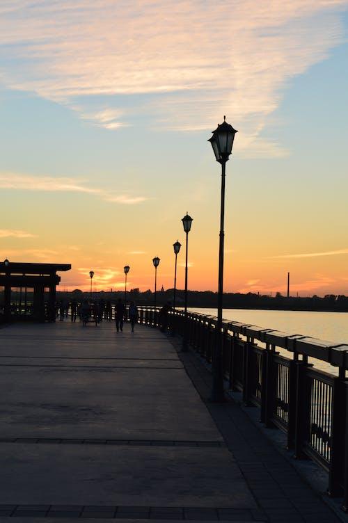 Free stock photo of summer, sunset
