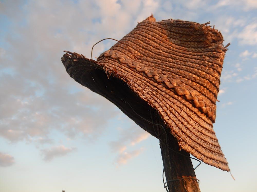 Free stock photo of straw hat, village