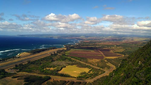 Gratis lagerfoto af birdseye, bjerg, hav, hawaii