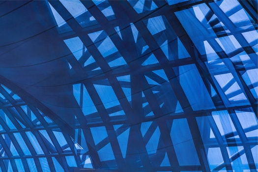 Free stock photo of light, blue, construction, abstract