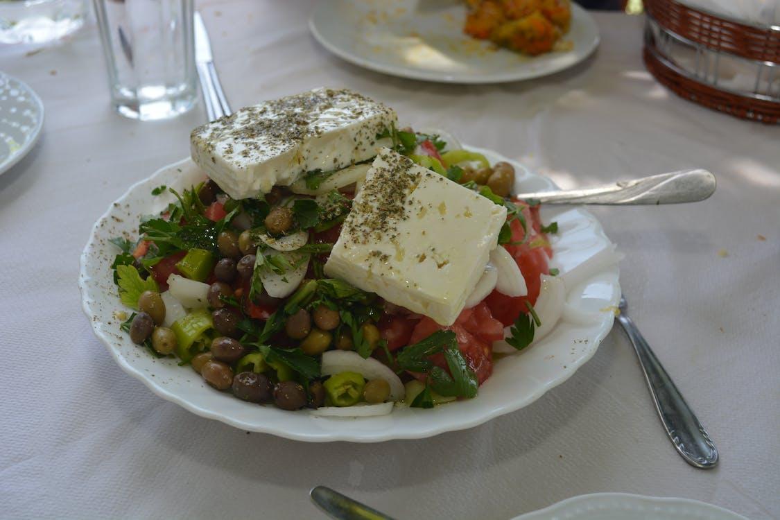 Free stock photo of greek salad