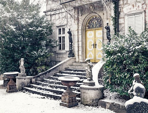 Free stock photo of cold, entrance, front door
