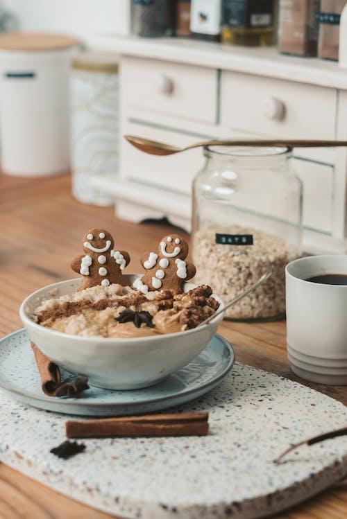 垂直拍攝, 早餐, 早餐碗 的 免費圖庫相片