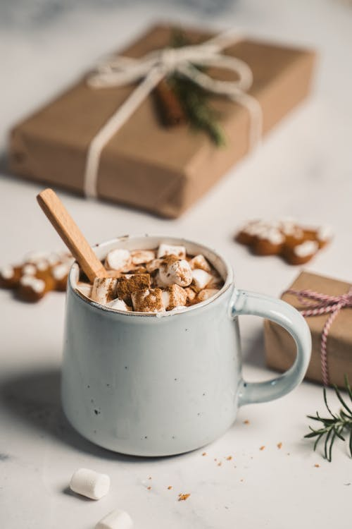 Hot Chocolate with marshmallows in a Cup