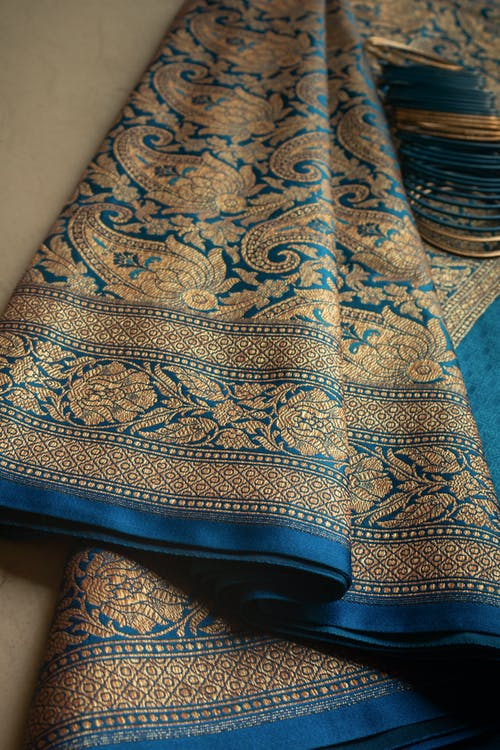 Free stock photo of banarasi saree, saree, texture