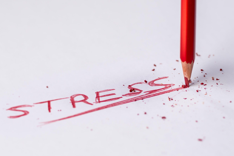 Stress Handwritten Text on White Printer Paper
