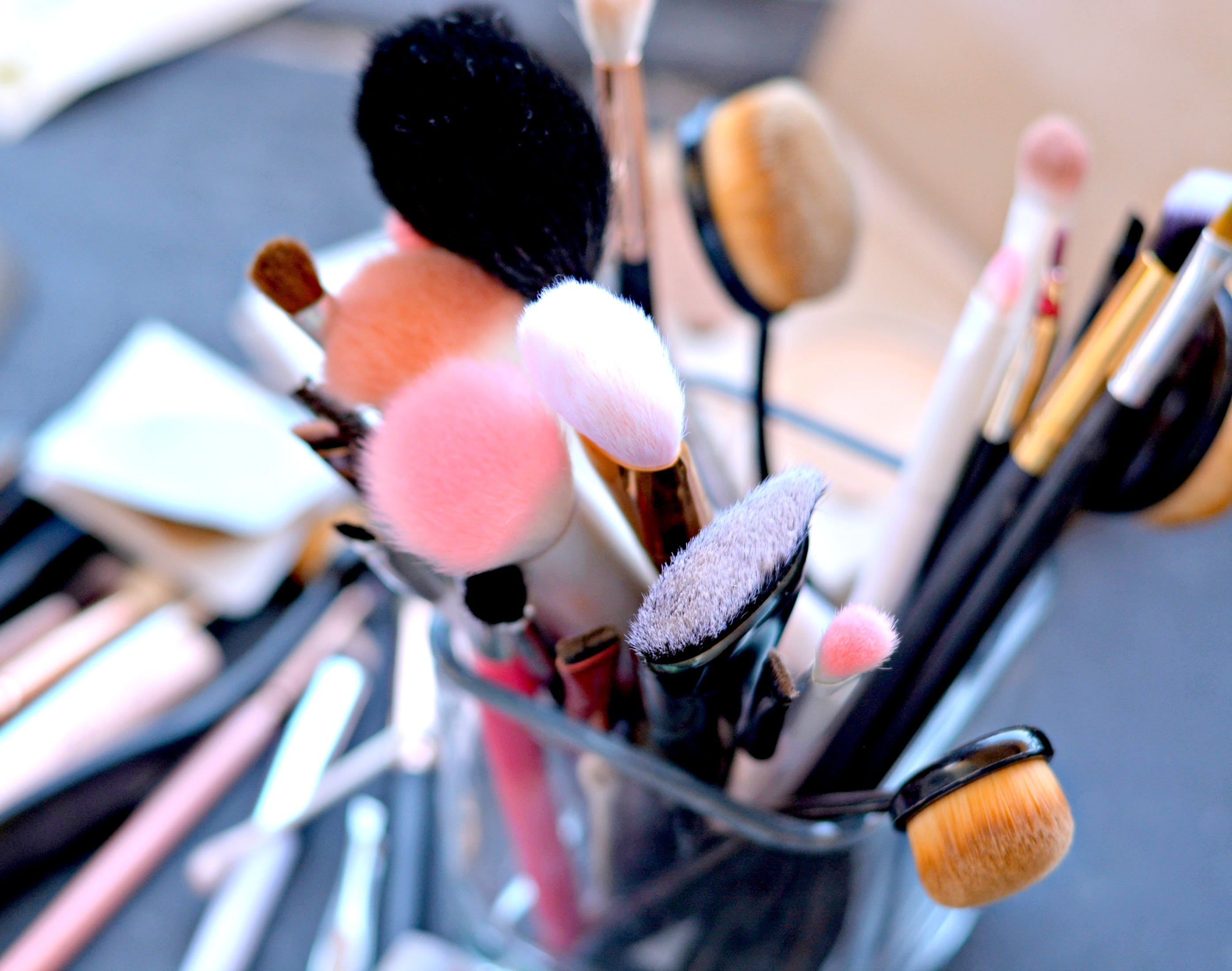 beauty, brushes, makeup