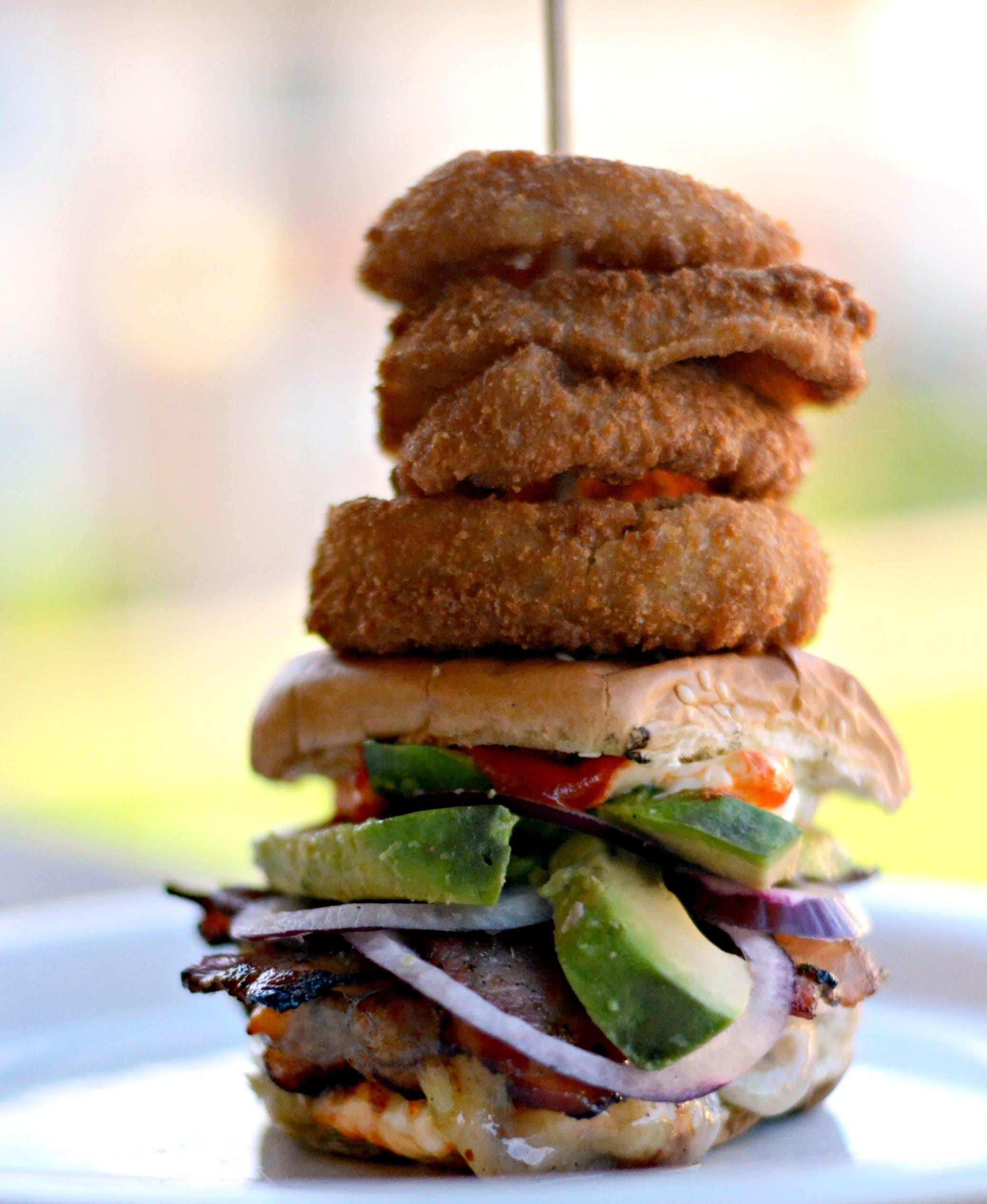 Free stock photo of food, avocado, cooking, burger