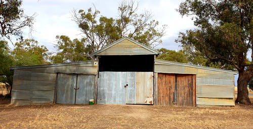 Free stock photo of bush shed, garage, old building