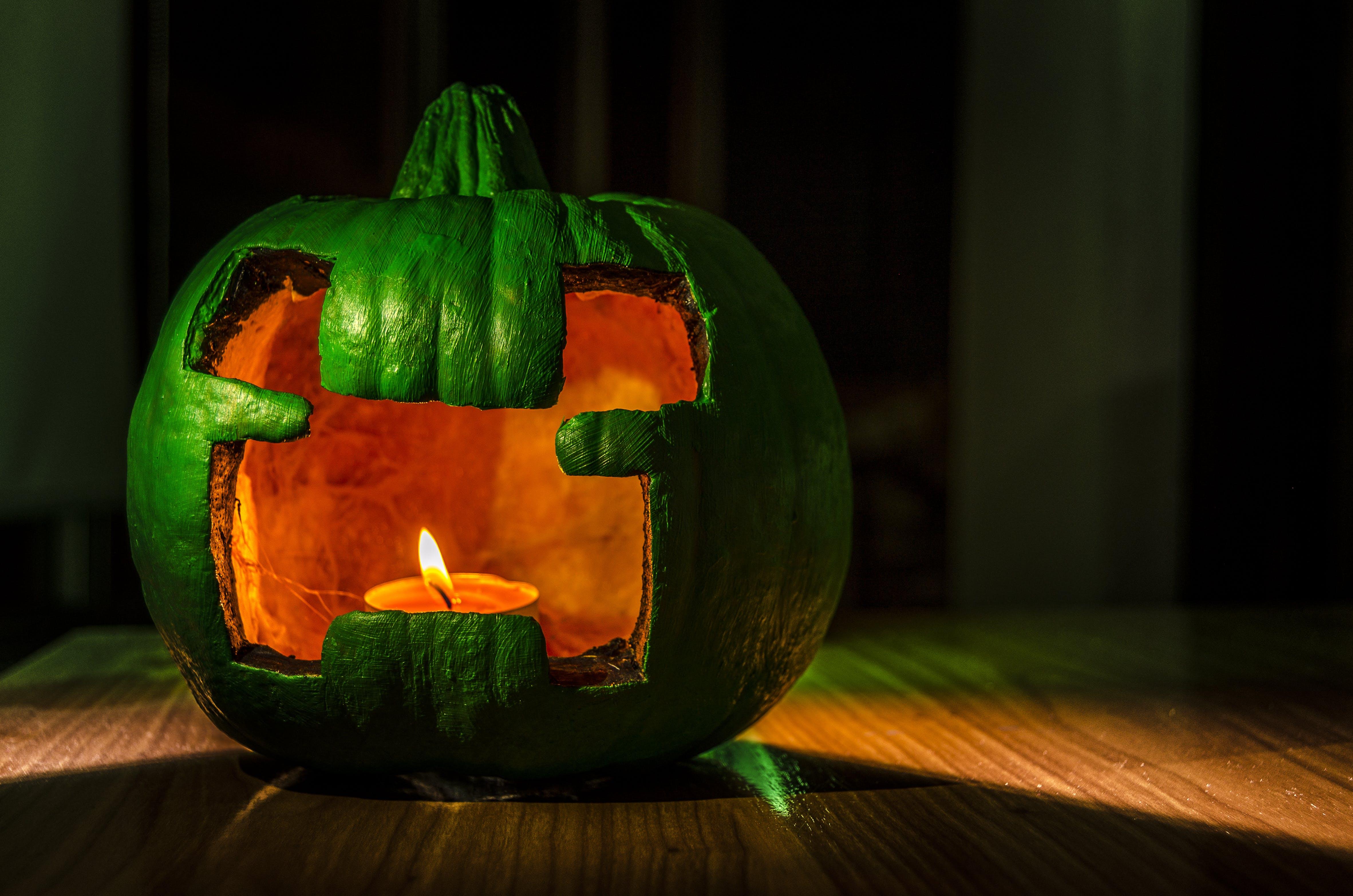 Free stock photo of clandle, dark, flame, halloween