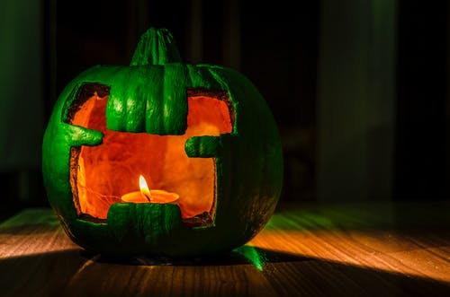 Free stock photo of clandle, dark, flame, halloween