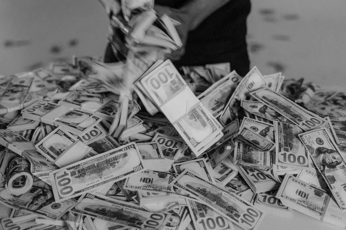 Grayscale Photo of 50 Us Dollar Bill