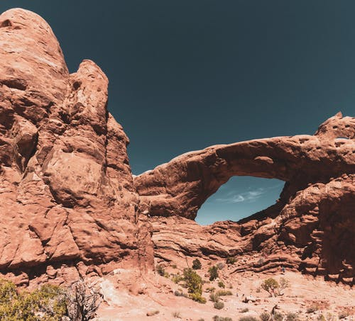 Natural Rock Formations in a Desert