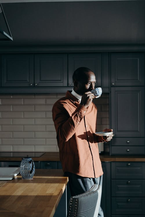 A Man Drinking Tea