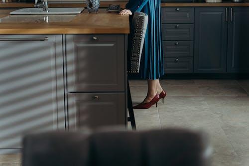 A Woman Wearing High Heels
