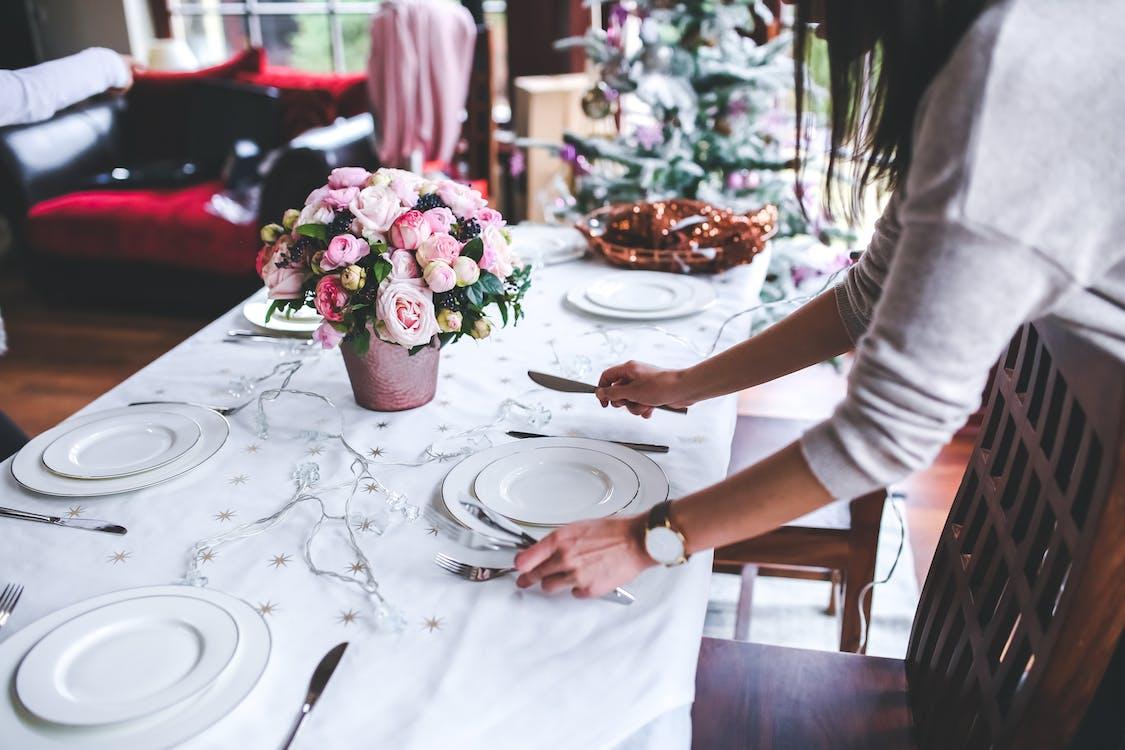 alat makan, aturan meja, bagian dalam