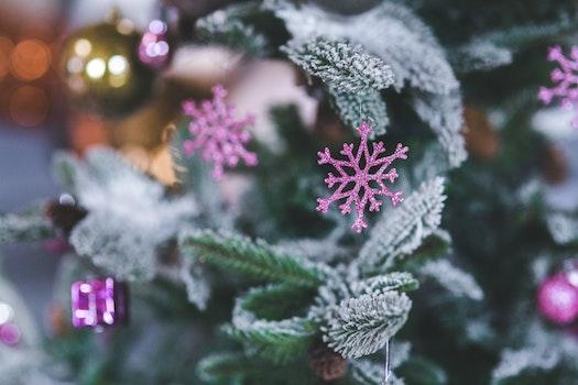Pink Snowflake. Christmas Tree Decoration