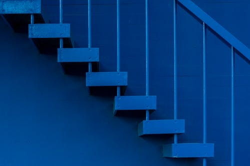 Free stock photo of blue, monochrome, railing