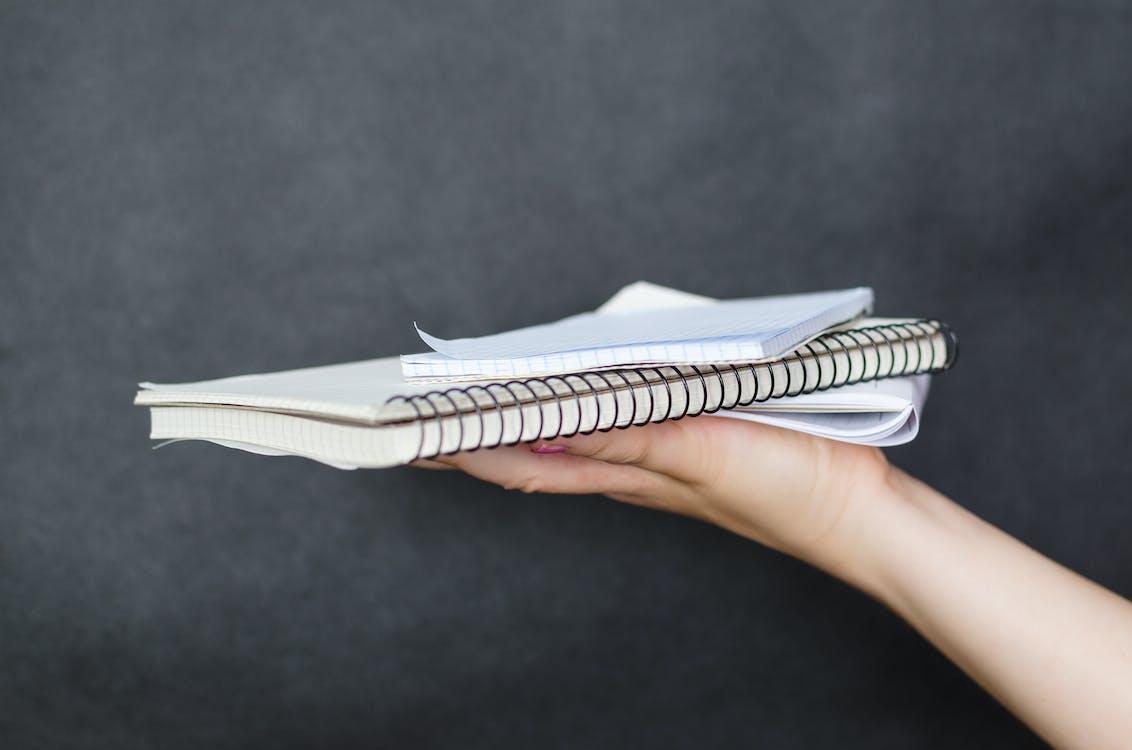 Person, Die Notizbuch Hält