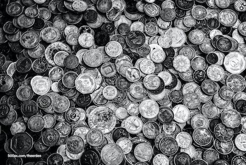 Gratis lagerfoto af mønter, penge, rigdom