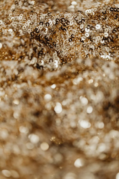 Kostenloses Stock Foto zu gold, nahaufnahme, pailletten