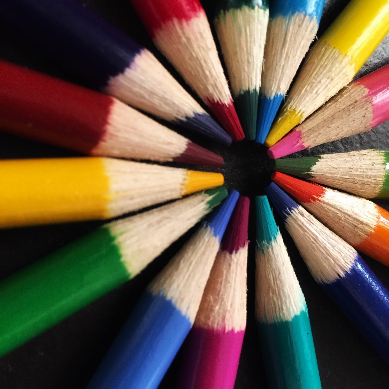 Kostenloses Stock Foto zu bleistift, bunt, buntstift, farbe
