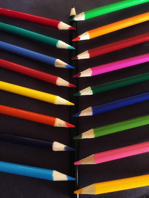 彩色鉛筆, 彩虹, 抽象照片, 照片 的 免費圖庫相片