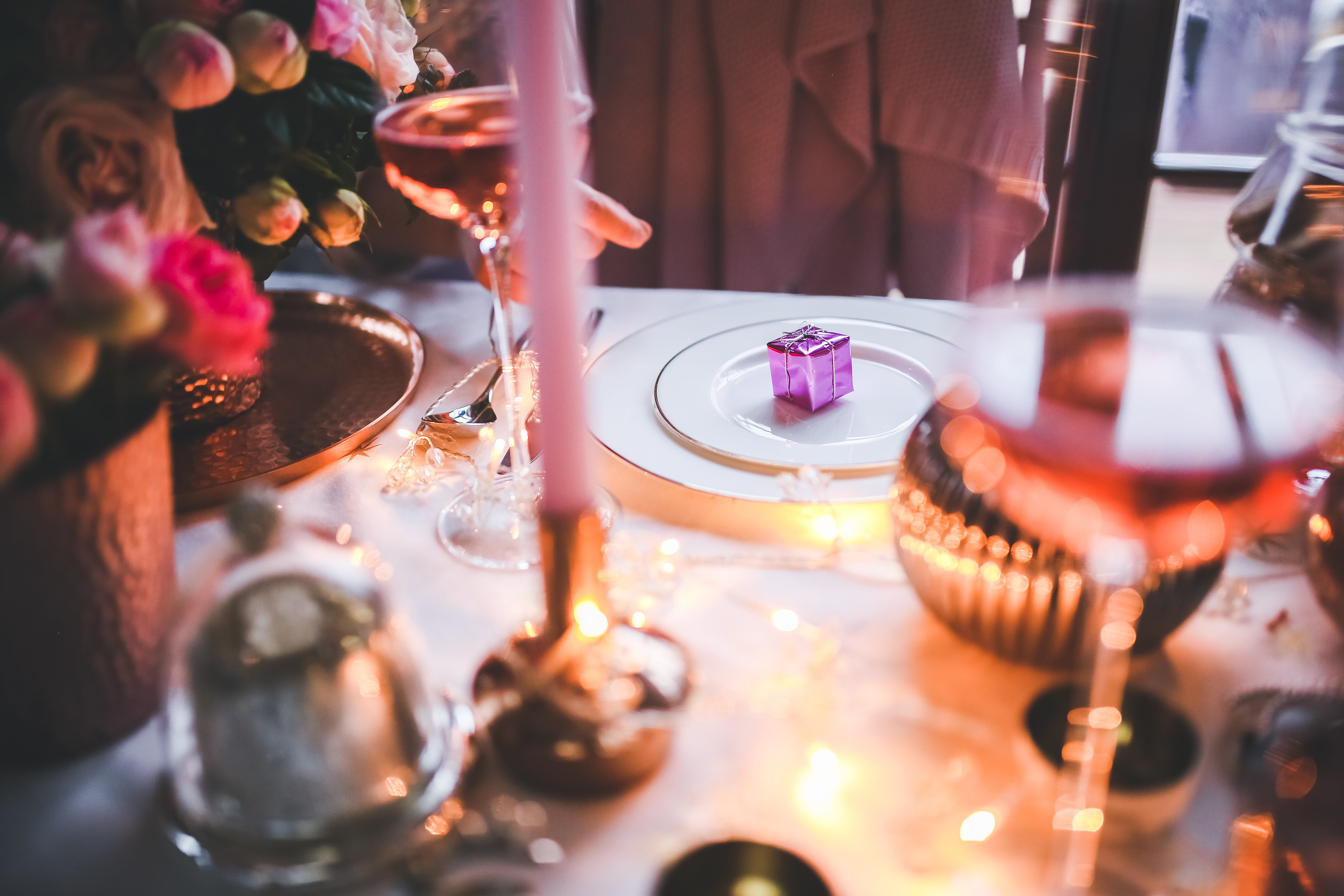 Free stock photo of plate, holidays, purple, dinner