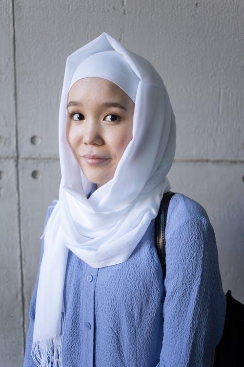 Muslim Asian woman in hijab and headscarf