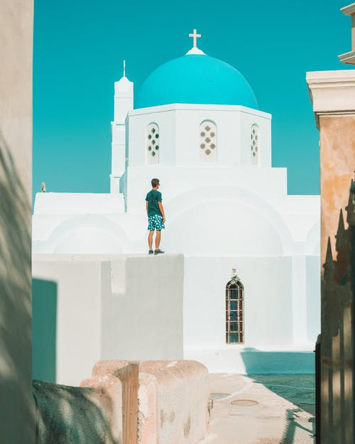 Free stock photo of above sea, ancient, architecture, beach house