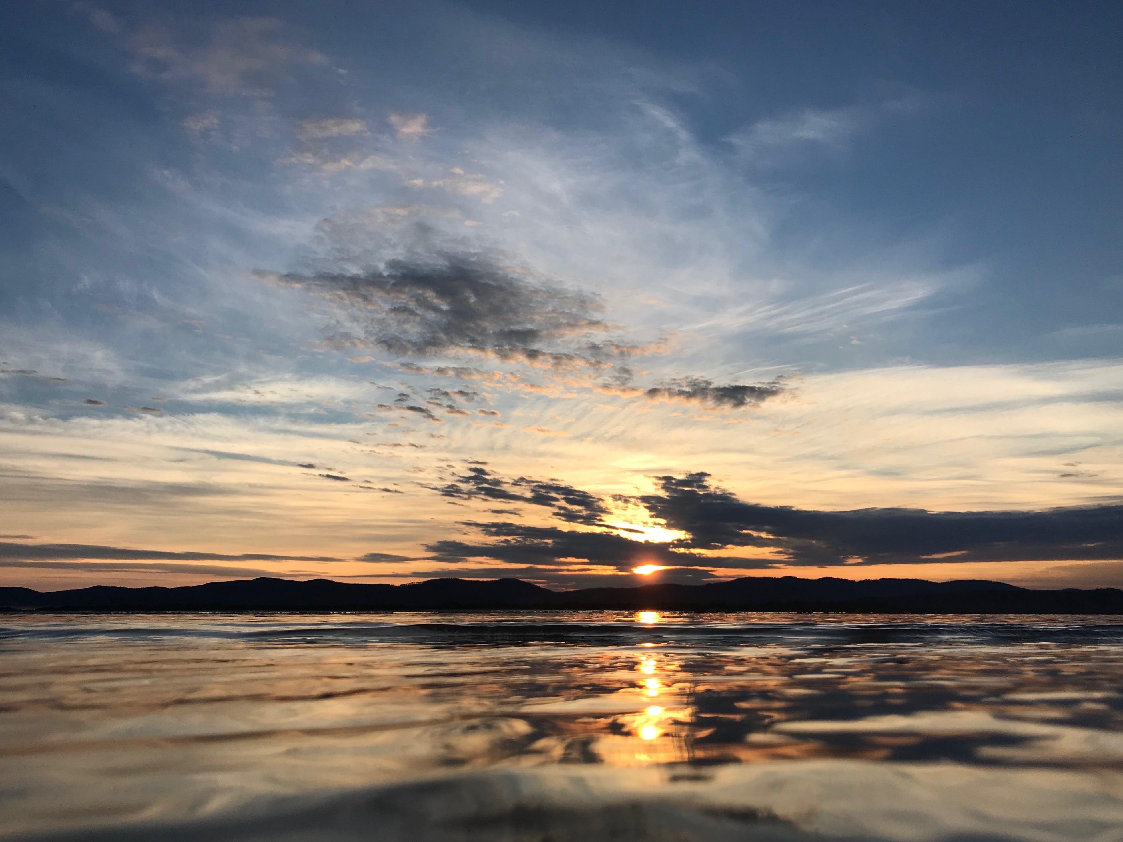 Free stock photo of beach, clouds, sunrise