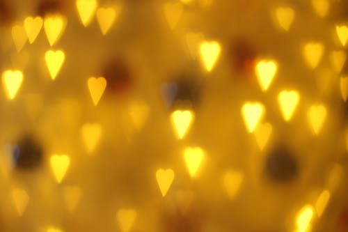 Free stock photo of christmas, christmas lights, heart bokeh
