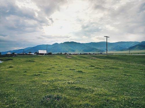 Kostnadsfri bild av bergen, dagsljus, elstolpar, fält