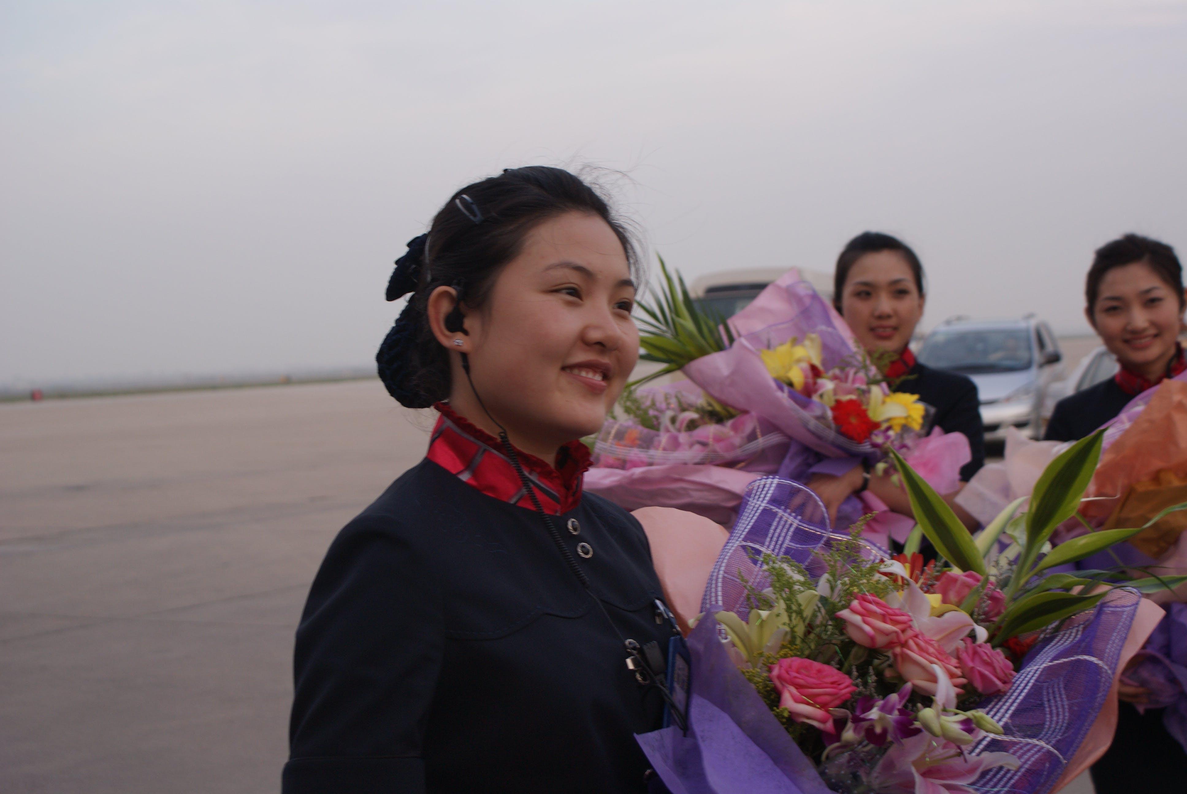 Free stock photo of Chinese flight attendants