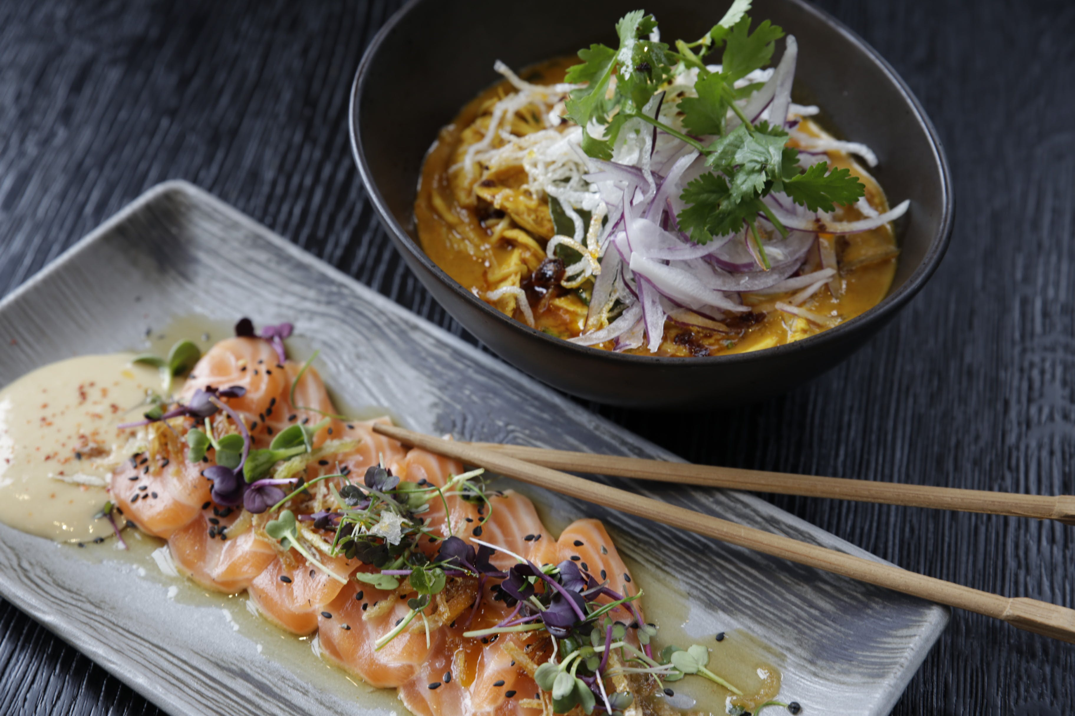 asian food, bowl, chopsticks