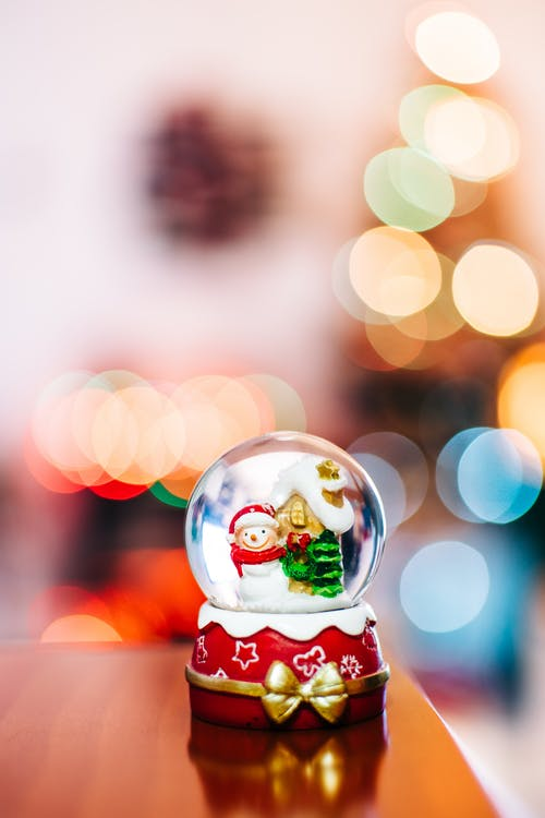 Red and White Christmas Tree Bauble