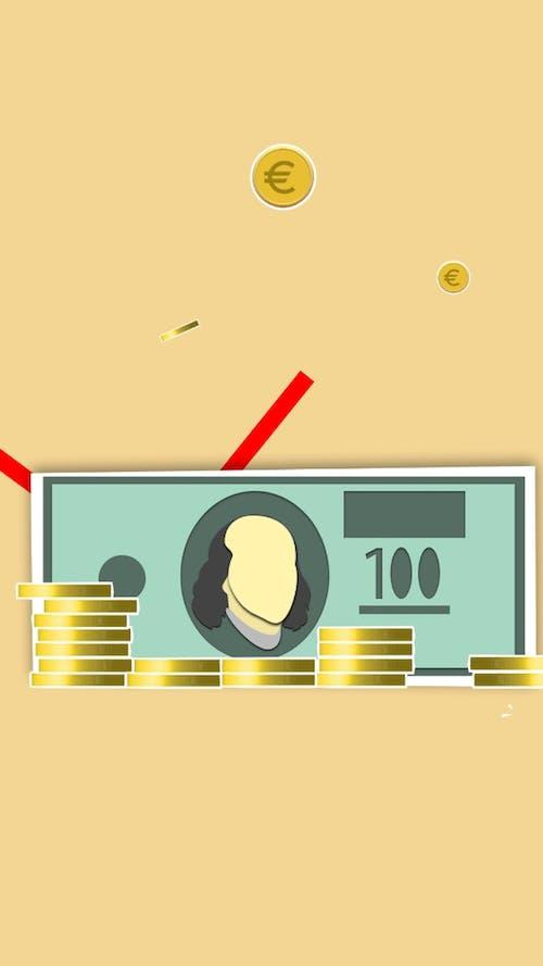 Kostenloses Stock Foto zu abbildung, bank, banknote