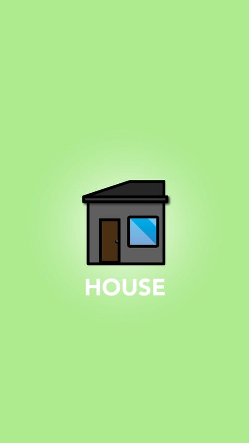Black and Blue House Illustration